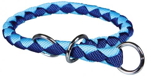 Kakla siksna suņiem - TRIXIE Cavo Choker, neilona, 52-60cm/18mm, krāsa - zila/gaiši zila title=