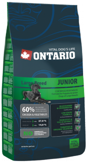 Корм для собак - Ontario Junior Large Breed 13kg title=