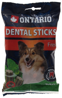 Gardums suņiem - Ontario Dental Stick Fresh, 200 g