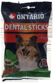 Лакомство для собак - Ontario Dental Stick Fresh, 200 г