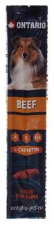 Gardums suņiem - Ontario Stick for dog, beef, 12g title=