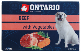 Konservi suņiem - Ontario Alucup Beef with vegetable, 320 g
