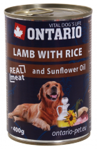 ONTARIO Can Lamb, Rice,Sunflower Oil