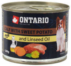 Ontario can Mini Calf, Sweetpotato, Dandelion and linseed oil
