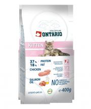 Barība kaķēniem - Ontario Kitten ar vistas gaļu, 400 gr