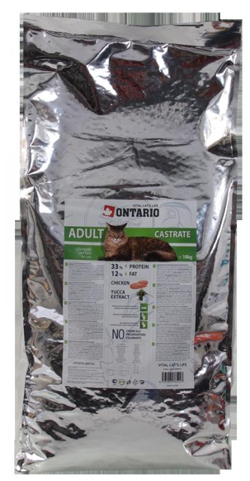 Корм для кошек - Ontario Castrate, 10 kg