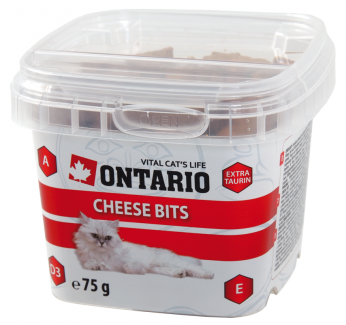 Gardums kaķiem - Ontario Cheese bits, 75 g title=