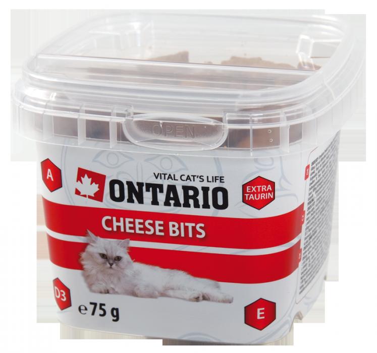 Gardums kaķiem - Ontario Cheese bits, 75 g