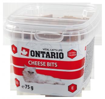 Лакомство для кошек - Ontario Cheese bits, 75 g title=