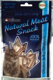 Лакомство для кошек - Ontario Chicken Jerky Sandwich, 70g title=