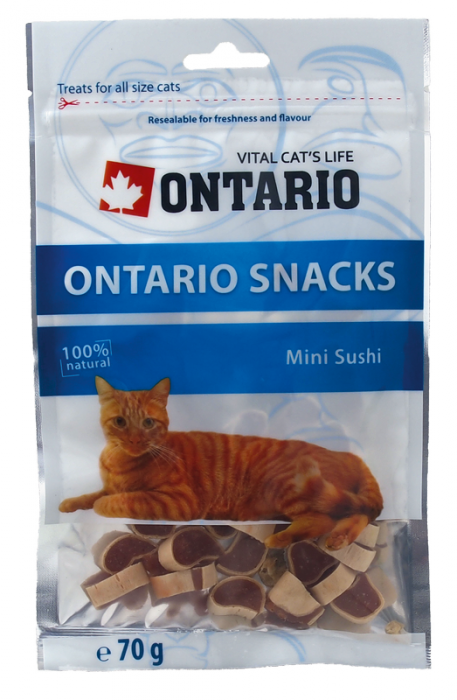 Лакомство для кошек - Ontario Snack Mini Sushi  70g