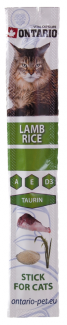Gardums kaķiem - Ontario Stick for Cat Lamb&Rice 5g