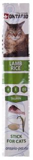 Gardums kaķiem - Ontario Stick for Cat Lamb and Rice, 5 g title=