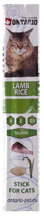Лакомство для кошек - Ontario Stick for Cat Lamb and Rice, 5 g