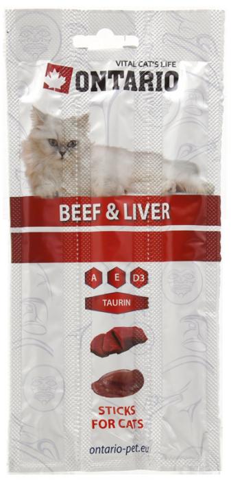 Gardums kaķiem - ONTARIO Stick for cats Beef and Liver, 15 g