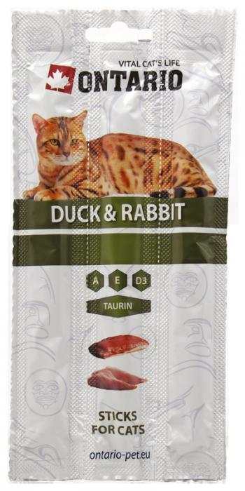 Лакомство для кошек - ONTARIO Stick for cats Duck & Rabbit, 15 г