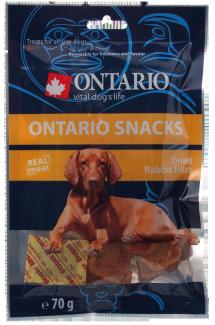 Gardums suņiem - Ontario Dry Rabbit Fillet, 70 g