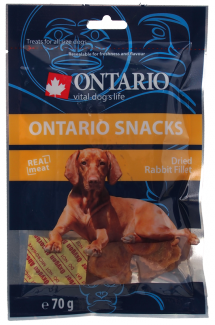 Gardums suņiem - Ontario  Dry Rabbit Fillet 70g