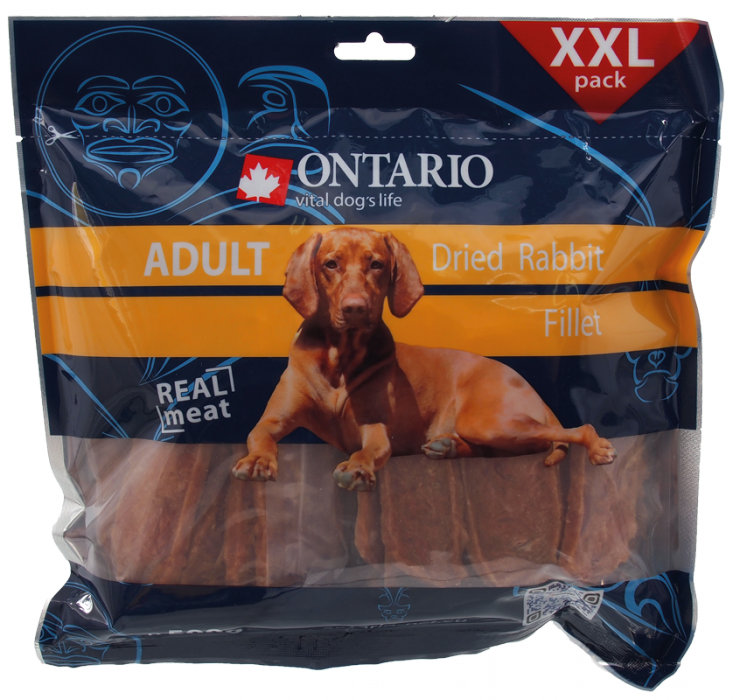 ONTARIO Snack Dry Rabbit Fillet 500g