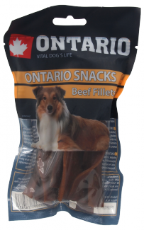 Лакомство для собак – Ontario Rawhide Snack fillets 12,5 cm (10 шт.) title=