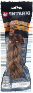 Лакомство для собак – Ontario Rawhide Snack Twisted Stick 15 см, 1 шт. title=