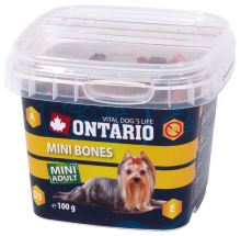 Лакомство для собак - Ontario Snack Mini Bones 100g