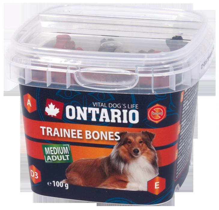 Лакомство для собак - Ontario Snack Trainee Bones 100g