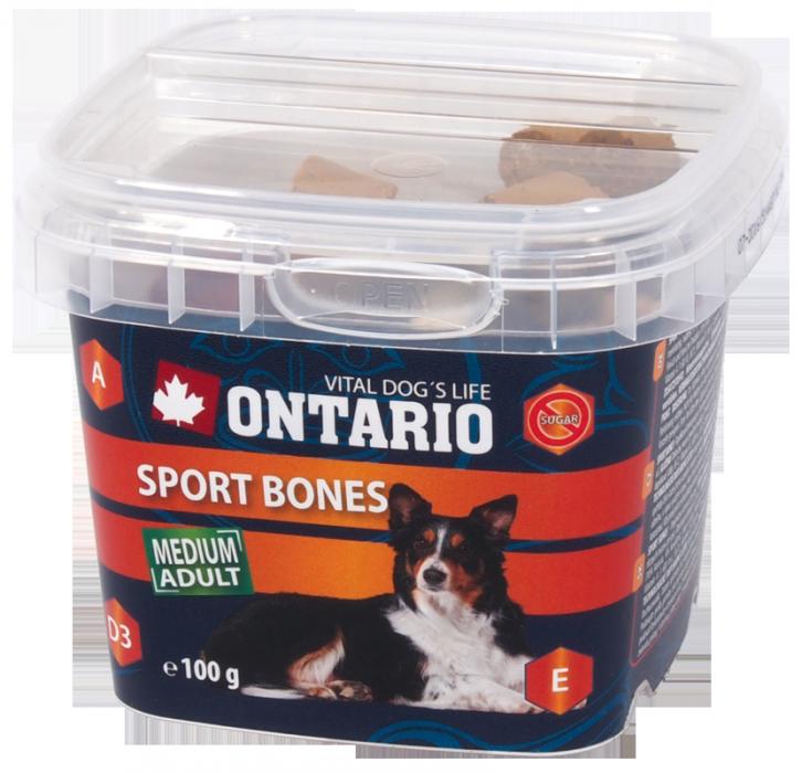 Лакомство для собак - Ontario Snack Sport Bones 100g
