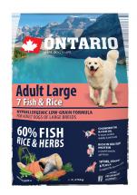 Barība suņiem - ONTARIO Adult Large Fish & Rice, 2.25 kg