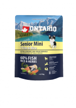 Корм для собак - ONTARIO Senior Mini Fish & Rice, 0.75 кг