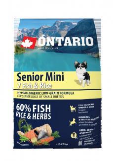 Barība suņiem - ONTARIO Senior Mini Fish & Rice, 2,25 kg title=
