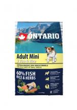 Barība suņiem - ONTARIO Adult Mini Fish & Rice 2.25kg