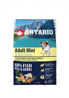 Корм для собак - ONTARIO Adult Mini Fish and Rice, 2.25 кг