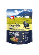 Корм для собак - ONTARIO Puppy Mini Lamb & Rice, 0.75 кг