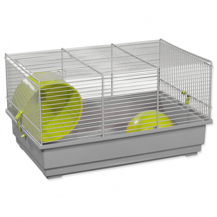 Būris grauzējiem – Small Animal Richard (green/gray), 39 x 25,5 x 22 cm