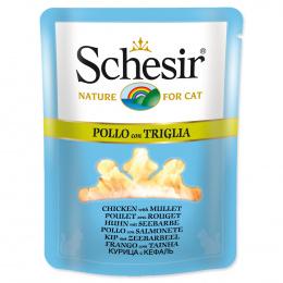 Konservi kaķiem - SCHESIR Cat Pouch Chicken and Mullet, 70 g