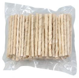 Gardums suņiem - Rasco Buffalo twisted sticks, white,  12.5cm, 1gb