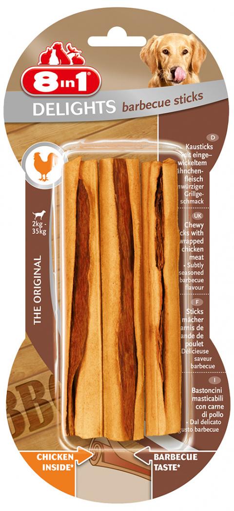 Gardums suņiem -  8in1 Delights Barbecue Sticks, 3 gab.