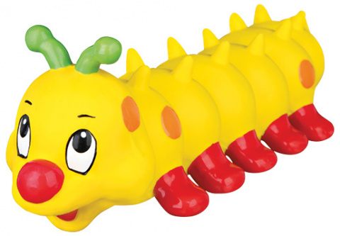 Игрушка для собак - Гусеница, латекс, 26 см title=
