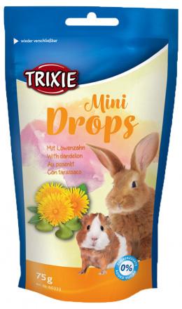 Лакомство для грызунов - TRIXIE Mini Drops, с одуванчиком, 75 гр