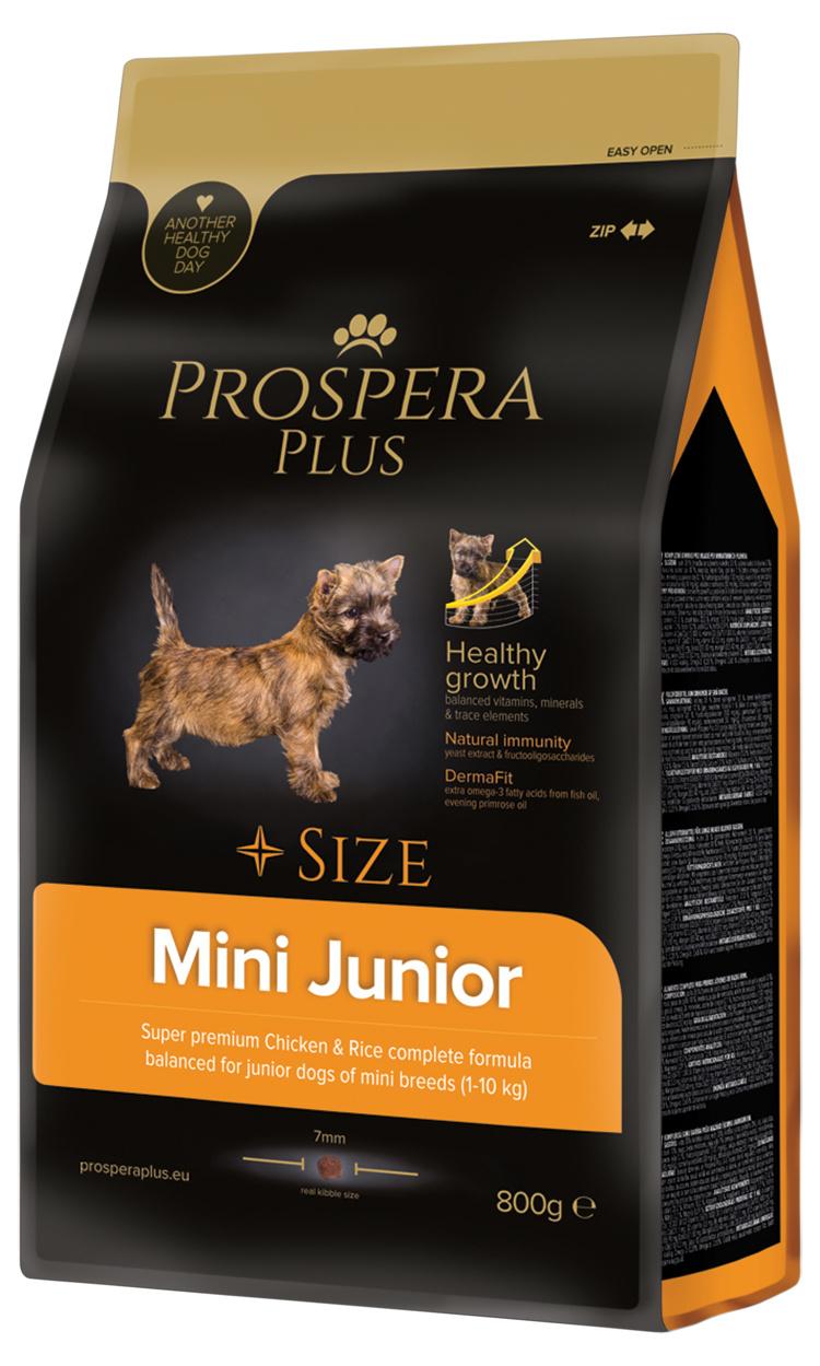 Barība suņiem - Prospera Plus Mini Junior, 800 g