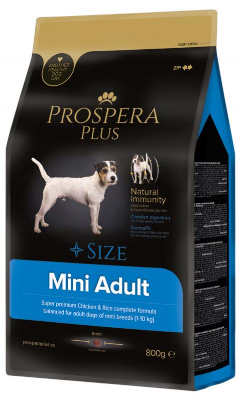 Barība suņiem - Prospera Plus Mini Adult, 800 g