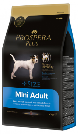 Barī­ba suņiem - Prospera Plus Mini Adult, 2 kg