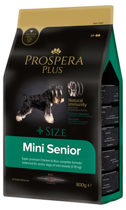 Bar­ība suņiem - Prospera Plus Mini Senior, 800 g