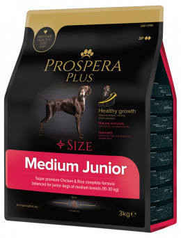 Barī­ba kucēniem - Prospera Plus Medium Junior, 3 kg