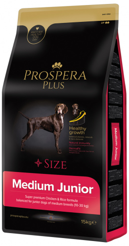 Barī­ba kucēniem - Prospera Plus Medium Junior, 15 kg