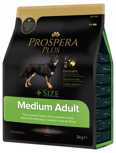 Barī­ba suņiem - Prospera Plus Medium Adult, 3 kg