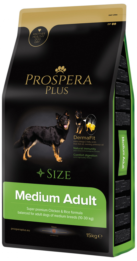 Barī­ba suņiem - Prospera Plus Medium Adult, 15 kg
