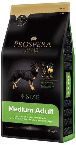 Корм для собак - Prospera Plus Medium Adult, 15 кг
