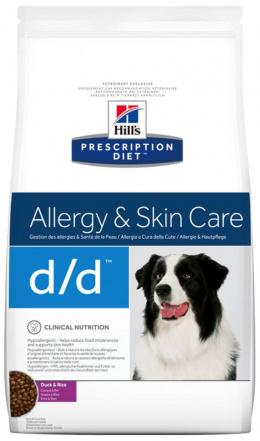 Ветеринарный корм для собак - Hill's Canine d/d Duck Rice, 12 кг